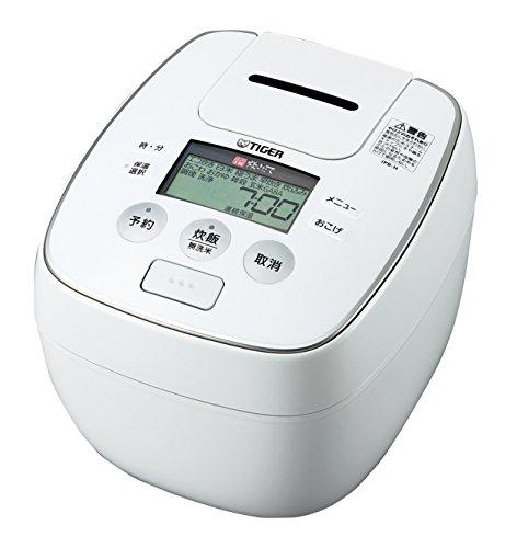 タイガー 炊飯器 圧力IH 「炊きたて」 5.5合 ホワイト JPB-H100-W
