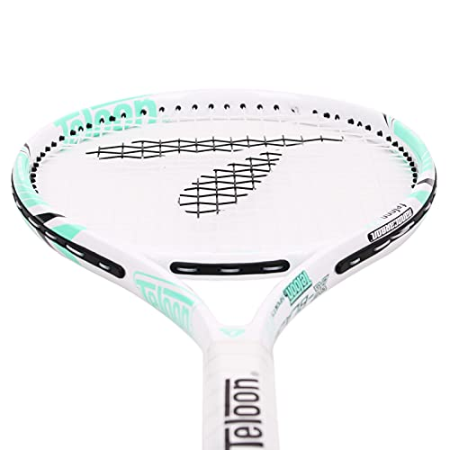 Teloon Recreational Adult Tennis Rackets-27 inch Tennis Racquet for Men and Women College Students Beginner Tennis Racket. (V10-White and Green)
