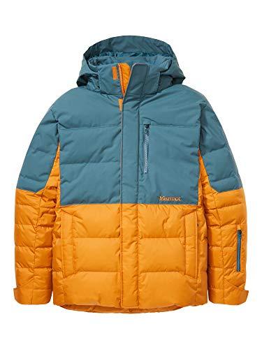 Marmot Shadow Jacket Chaqueta de plumas para la nieve, 700 pulgadas cúbicas, ropa de esquí y snowboard, resistente al viento, resistente al agua, transpirable, Hombre, Bronze/ Stargazer, M
