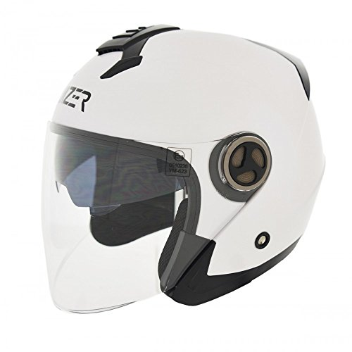 Cruizer helm motorfiets scooter Jet ECE 22 – 05, wit, maat M