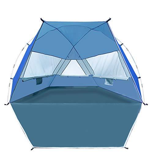 Forceatt 3-4 Personas Tienda de Sombra para Acampar en la Playa, UPF50 +, instalación Simple Ligera y fácil de Transportar, se prefiere Acampar en la Playa para Vacaciones en la Playa