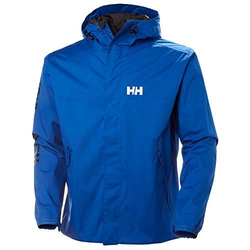 Helly Hansen ERVIK Jacket - Chubasquero, Hombre, Azul(563 Olympian Blue)