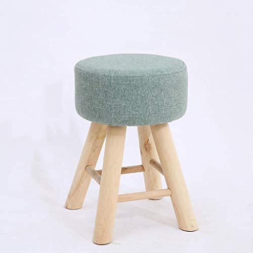 YLCJ kruk van massief hout, make-uptafel eettafel kleine kruk bank balkon kruk spons kleine bank afneembaar (kleur: A) Een