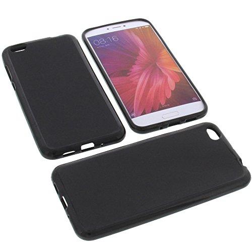 foto-kontor Tasche für Xiaomi Mi 5c Gummi TPU Schutz Handytasche schwarz
