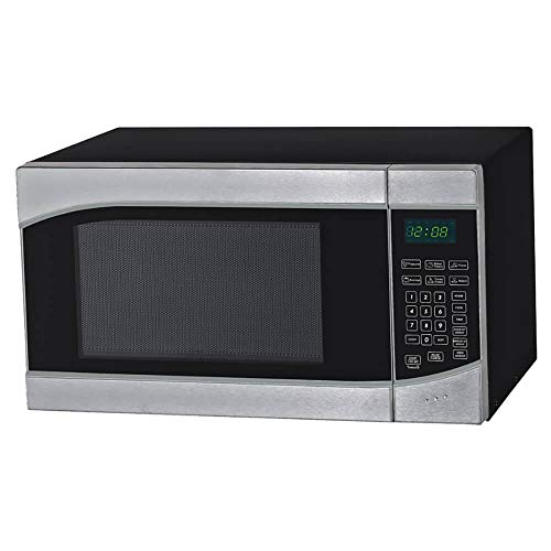 "Avanti MT9K3S 0.9 Cubic Foot Microwave Oven, 11"" x 19"" x 13.8"", Stainless Steel, Black"