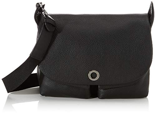 Mandarina Duck Damen Mellow Leather Kuriertasche, Schwarz (Nero), 12x27.5x28 Centimeters