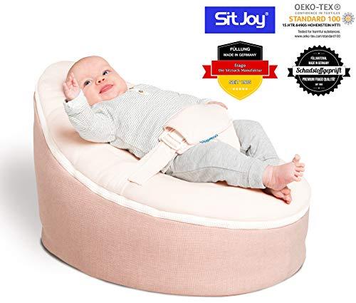 Sitjoy Baby-Sitzsack doomoo | Toxproof-Perlen Füllung | Home Rosa | Liegekissen – Lagerungskissen