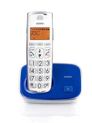 Brondi Bravo Gold Teléfono inalámbrico Azul/Morado