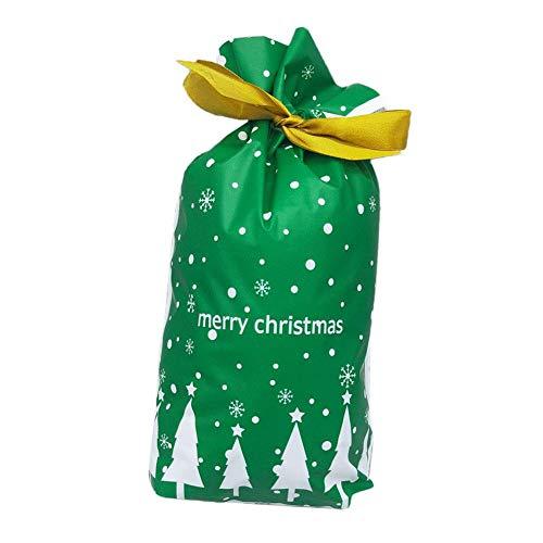 Oinna Bolsas de organza para fiestas, regalos, bolsas de organza, bolsas preferidas para bodas, pequeñas bolsas para caramelos, comida de Navidad, árbol de Navidad verde