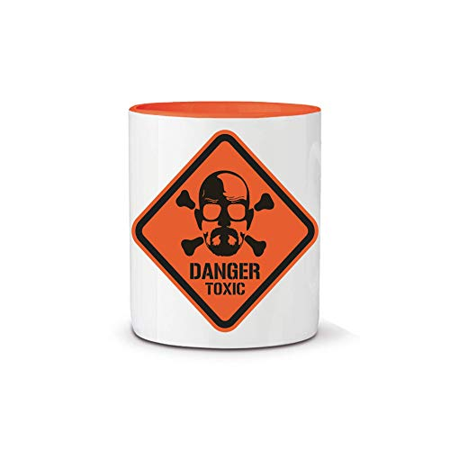 Taza Serie Breaking Bad, Heisenberg, Danger Toxic, 11 oz,...
