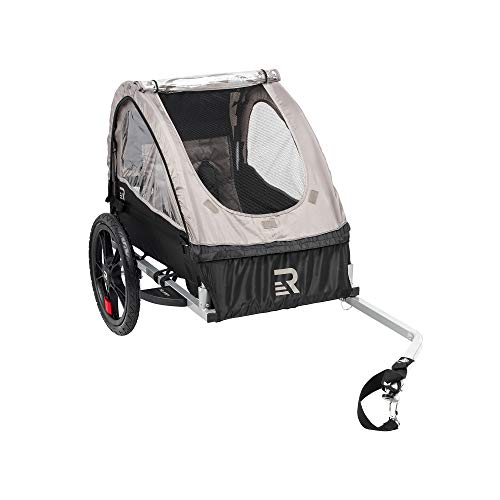 Retrospec Rover Kids Bicycle Trailer Single and Double Passenger Children's Foldable Tow Behind Bike Trailer with 16' Wheels
