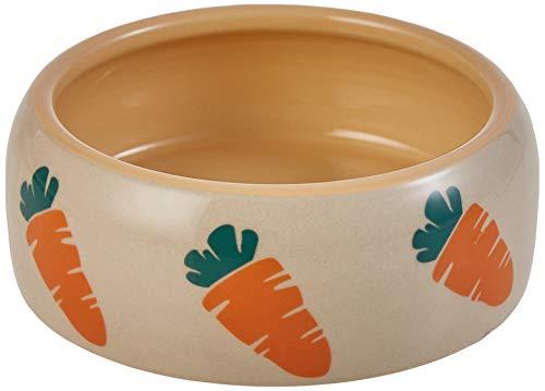 """Nobby Keramik Futtertrog \""""CARROT\"""" beige / orange 500 ml"""