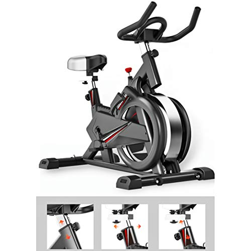 Photo of Zzxxo Indoor Cycling Bike, Silent Belt Drive Cycle Bike with Adjustable Handlebars & Seat, Chromed Flywheel, 5-Function Monitor, Fitness Bike And Ab Trainer, Sporting Equipment, Ideal Cardio Trainer