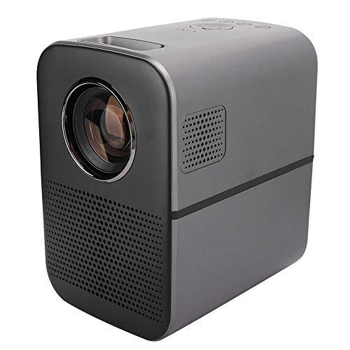 Mini-Projektor, Mini LED Smart HD kleine Videoprojektoren tragbar mit 50.000 St&en Lamp Life Media Home Cinema Projektor für PS4, Xbox, PC, Smartphone (EU)