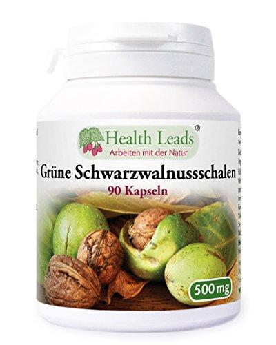 Schwarzwalnuss Schale 500mg x 90 Kaps (100% ohne Zusatzstoffe!)