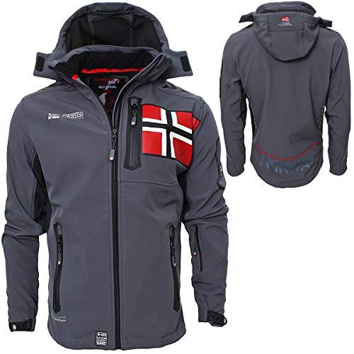 Geographical Norway Herren Softshell Jacke Funktions Outdoor, Schwarz - XXL
