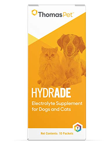 Thomas Pet HydrADE - Electrolyte Supplement for Dogs & Cats - Maintains Hydration & Proper Fluid Balance - Replenishes Electrolytes - Great for Agility & Hunting Dogs - 10 Packets