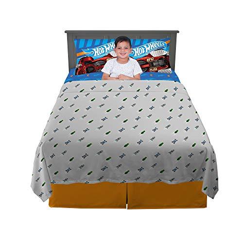 Franco Kids Bedding Super Soft Sheet Set, 4 Piece Full Size, Hot Wheels