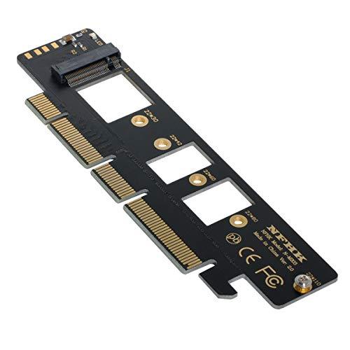 Xiwai NGFF M.2 M-Key NVME AHCI SSD auf PCI-E 3.0 16x 4X Adapter für 110mm 80mm SSD