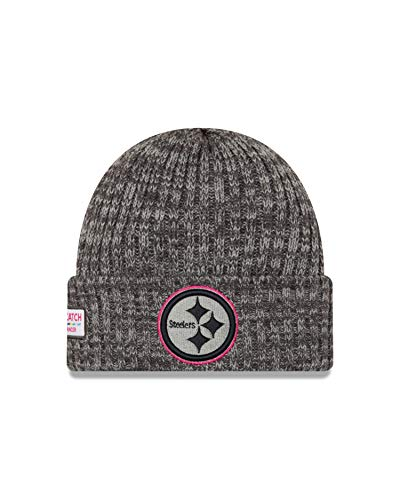 New Era Pittsburgh Steelers Beanie NFL 2019 On Field Crucial Catch Knit Graphite -...