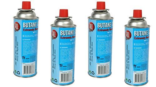 4 x Universal Butangaskartuschen Flammbierer Gaskartuschen für Campingkocher je 227 g Unkrautvernichter Camping Butan Gas Gaskocher Gasherd