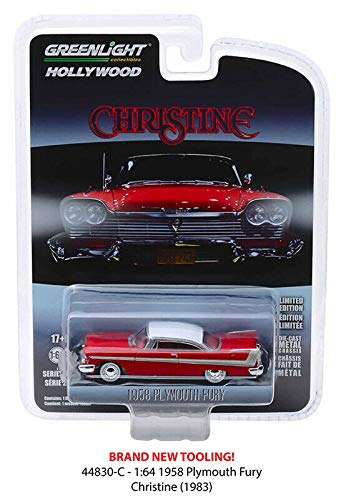 DIECAST 1:64 Hollywood Series 23 - Christine - 1958 Plymouth Fury (RED/White ROOF) 44830-C by Greenlight