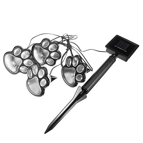 Solar Paw Print Ground Lights, Outdoor Solar Lawn Light, Creative Animal Footprint Lamp, Garden LED Light, Bear Claw Lamp