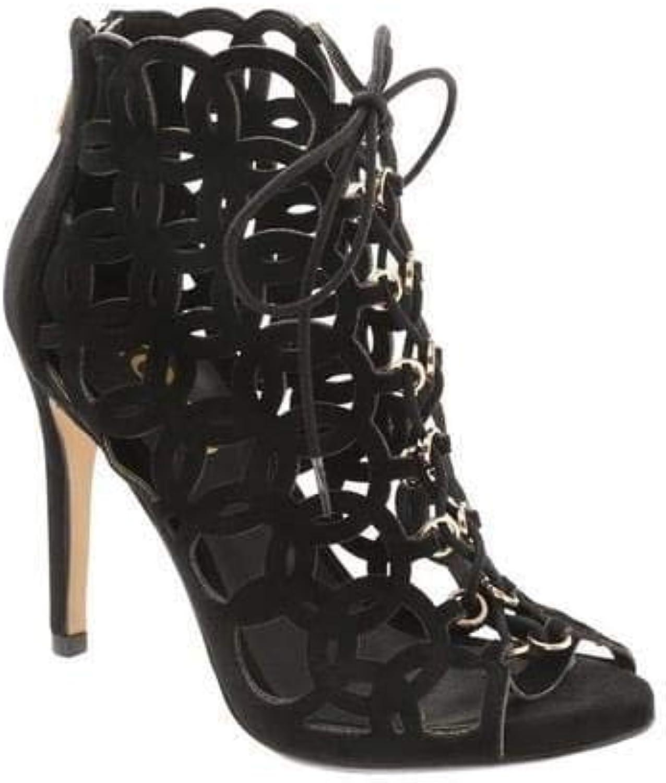 XOXO Womens Cori Suede Almond Toe Formal Strappy Sandals