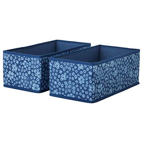 IKEA STORSTABBE Fächer in blau; (20x37x15 cm); 2 Stück