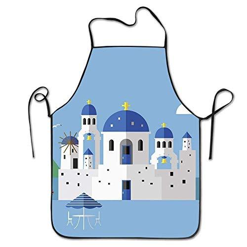 N\A EIN berühmter Anblick von Santorini BBQ Grillschürze für Freunde Frauen Geschenke