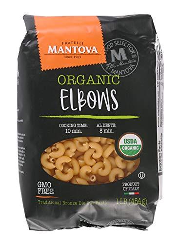 Mantova Italian Organic Macaroni Elbow Pasta, 1 Lb Bags (Pack Of 12) - Product Of Italy - All Natural, Pasta