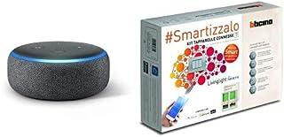 Echo Dot (3ª generazione) - Altoparlante intelligente con integrazione Alexa - Tessuto antracite + Bticino SNT2000KIT Livi...