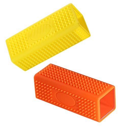 MJEMS 2-Pack Pet Dog Cat Hair Remover for Cars Furniture Carpet Sofa Hollow Rubber Cleaner Brush