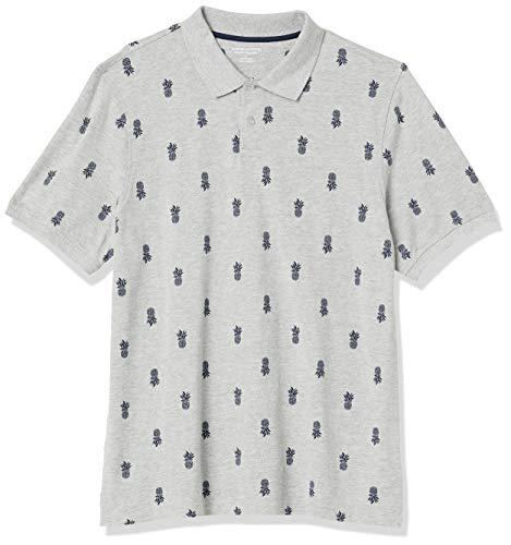 Amazon Essentials Regular-Fit Cotton Pique Polo athletic-shirts, Ananas, XXL