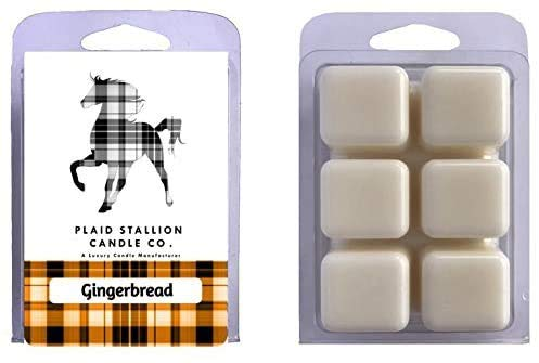 Gingerbread Scent - Long Lasting Highly Scented Wax Melts, Scented Wax Tart Clamshell ((1) Single)