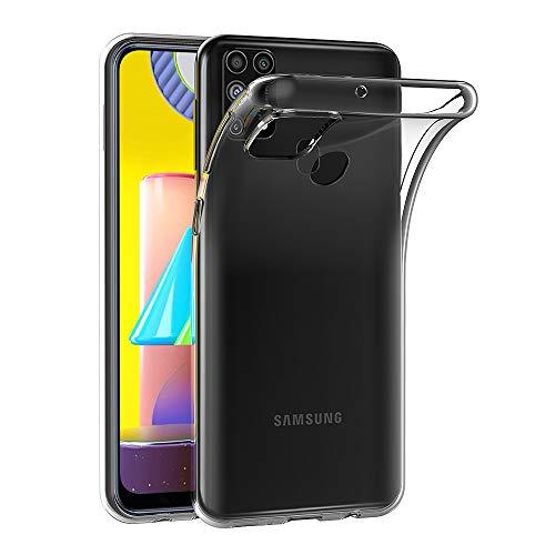 AICEK Hülle Compatible für Samsung Galaxy M31 Transparent Silikon Schutzhülle für Samsung M31 Hülle Clear Durchsichtige TPU Bumper Galaxy M31 Handyhülle (6,4 Zoll)
