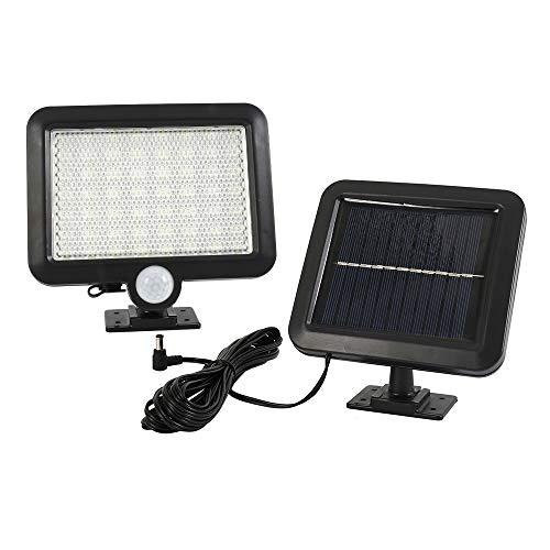 Luce Solare Esterno 56 LED con Separato Pannello Solare,Impermeabile,Doppio Sensore Luce di Sicurezza a Energia Solare per Parete,Giardino,Patio,Ponte