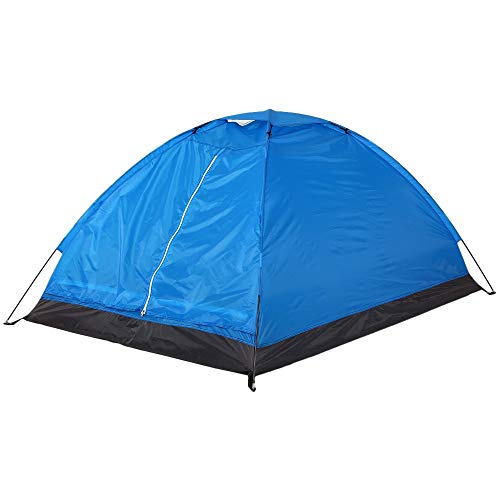 Chenshun Outdoor 2 Persons Camping Tent PU1000mm Polyester Single Layer Tent Portable Camouflage Hiking Outdoor Tent (Color : Blue 2 people)