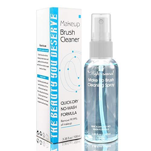 Rtengtunn 100ml Detergente per pennelli per Trucco Spray cosmetico per Pulizia Profonda Liquido Senza Lavaggio ad Asciugatura Rapida