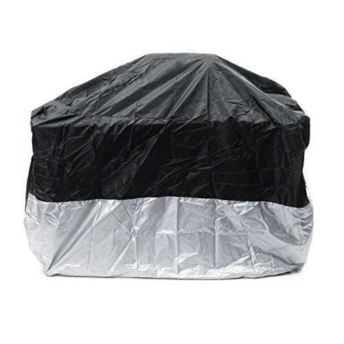 Caredy wasserdichte Motorradabdeckung, volle Abdeckung Breathable Staub-Regen-UVschutz-Roller-Abdeckung im Freien für Motorrad, Roller, Fahrrad, Moped(L) (#4)