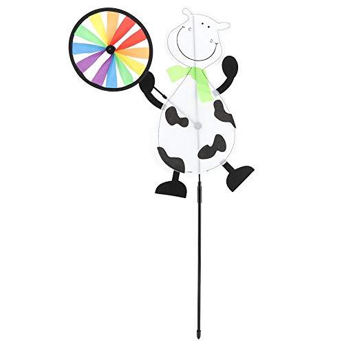 Mumusuki DIY Kleurrijke windmolens vlag decoratieve hangende decoratieve wind molen wind sculpturen spinner patio gazon tuin stof koe
