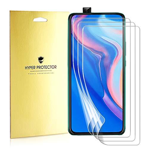 Mimoke - Película protectora para Huawei P Smart Z [Paquete de 3] [Compatible con estuche] [Película protectora en Pet Nano]