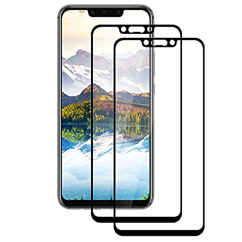 WISMURHI Cristal Templado para Huawei Mate 20 Lite, [2 Pack]Vidrio Templado de Huawei Mate 20 Lite, Cobertura Completa/Dureza 9H/3D Curvado/Anti Arañazos Protector de Pantalla para Huawei Mate 20 Lite