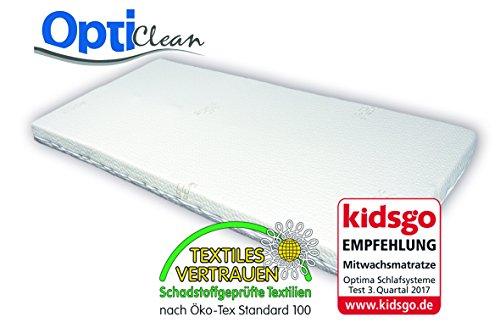 OptiClean Schadstoffgeprüfte Kindermatratze Babymatratze 70 x 140 cm waschbar und erweiterbar