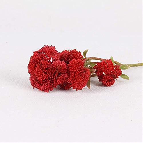 ZHUAIBA Simulatie bloem donker rood zacht rubber bloemkool sappige woonkamer model kamer decoratie bloem decoratie