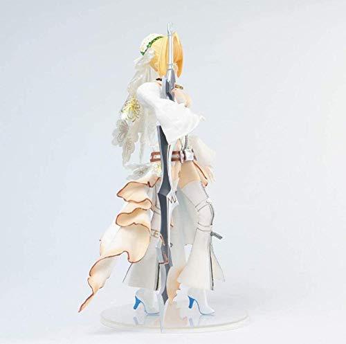 ZJZNB Saber/Nero Claudius Braut Version White Brautkleid Kleid Hübsches Mädchen Charakter Skulptur High 24