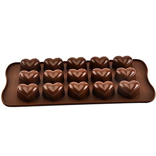 Molde de chocolate con forma de corazón,Molde de Silicona Forma Corazones,Moldes Silicona Bombon qklm