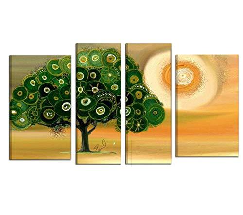 I Colori del Caribe Quadri Moderni Astratti Dipinti A Mano COMPONIBILI su Tela Verde Albero Salone Salotto Alta QUALITA' Made in Italy - Milady