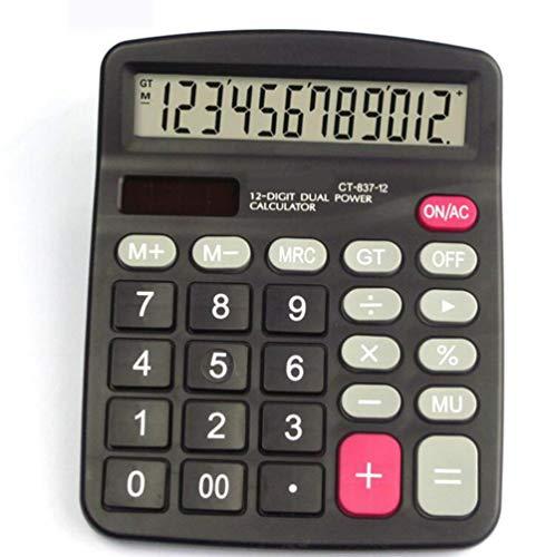 Calculators Standard Desktop Solar Energy Dual Power 12 Digits LCD Widescreen Display Calculator Finance Office Student Portable Calculator (Q)