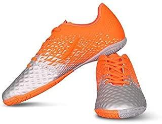 Vector X Defender Indoor Football Shoes (Grey-Orange)